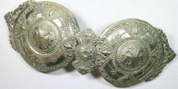 Ελληνικές σπάνιες μεγάλες Ασημένιες πόρπες 19 ου αιώνα Γυναικείας παραδοσιακής στολής.