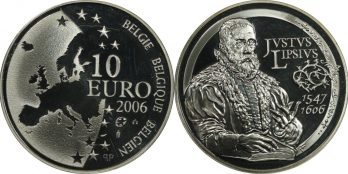 "Belgium – 10 Euro 2006 Ασημένιο proof ""Justus Lipsius"""