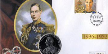 Isle of man 1999 first day cover Crown king George VI
