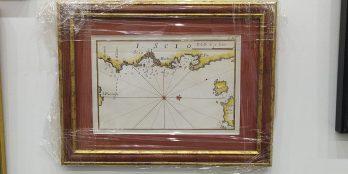 Χαλκογραφικός χάρτης της Χίου, J. Roux – I. Scio – 1762