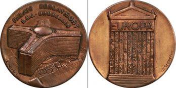 Αναμνηστικό χάλκινο μετάλλιο Ευρώπη Palais Berlaymont