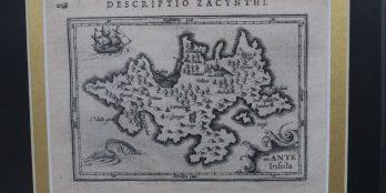 Χαλκογραφικός χάρτης της Ζακύνθου, Petrus Bertius 1616 .