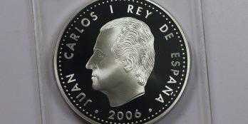 Ισπανία 10 ευρώ 2006 ασημένιο proof Carolus Imperator