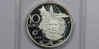 """Ιταλία 10 ευρώ 2006 ασημένιο proof """"Leonardo da Vinci""""."""