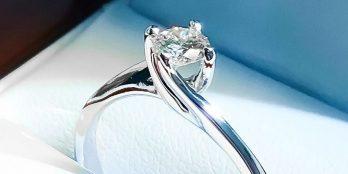 Δαχτυλίδι Μονόπετρο λευκόχρυσο 18κ με διαμάντι