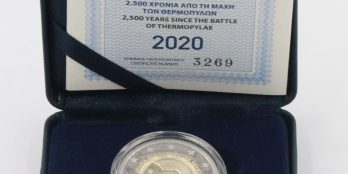 Greece 2 Euro, BATTLE OF THERMOPYLAE, 2020 (proof) with Box and C.O.A.