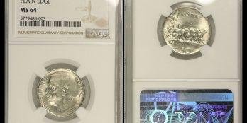 Italy 50 Centesimi 1921 R Vit. Emanuelle II NGC MS64