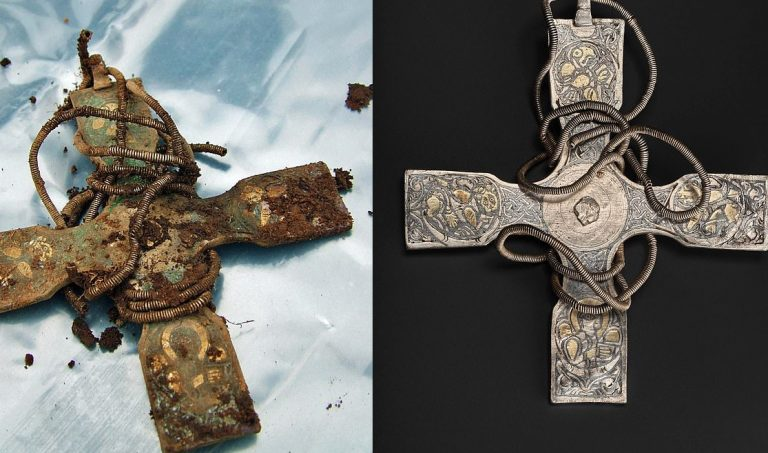 Anglo-Saxon cross buried for 1,000 years seen in stunning detail for the first time