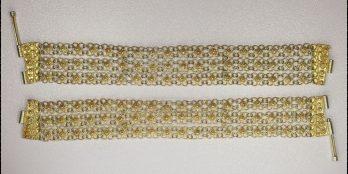 2 Χειροποίητα Γυναικεία Ασημένια βραχιόλια Παραδοσιακής στολής